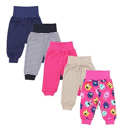 TupTam Unisex Baby Pumphose 5er Pack, Farbe: Mädchen 2, Größe: 62
