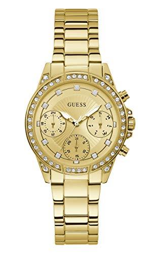 GUESS Reloj de Mujer Cuarzo 36mm Correa y Caja de Acero dial Dorado W1293L2