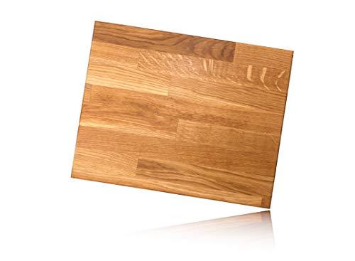 XXL Massivholz Schneidebrett aus Eiche | 40 x 30 cm | 100% Handarbeit in Deutschland | Premium Küchenbrett, Servierbrett, Holzbrett, Eichenholz massiv für Küche