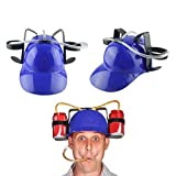 Guzzler Drinking Helmet Drinker Hat Cap with Straw for Beer and Soda, Fun Party Drinking Helmet Hat Party Gags Cap