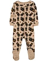 Leveret UPS Truck Footed Pajama Sleeper 100% Cotton Beige 3 Years