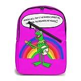 Sac à dos Kermit la grenouille pour ordinateur portable, sac à dos léger et décontracté