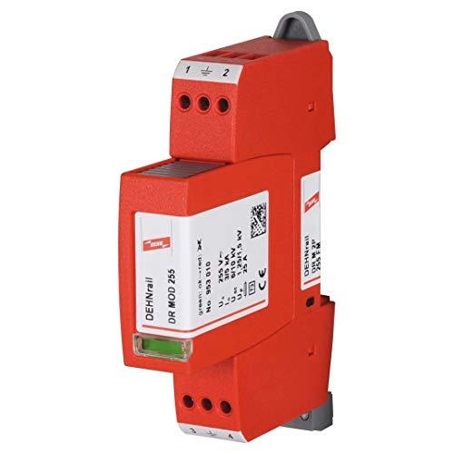DEHN 953205 DR M 2P 255 FM 230 V rot Überspannungsschutz – Steckdosenleiste (Terminal, 50/60, 5000 A, 84 g, 18 mm