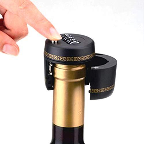 FICI contraseña Botella código de contraseña Bloqueo Digital Cerradura de combinación para Vino tapón de Tapa de Botella de Whisky para el hogar