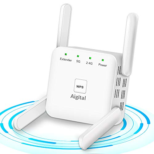 1200Mbps WiFi Booster Range Extender 2.4G+5G Dual Band...