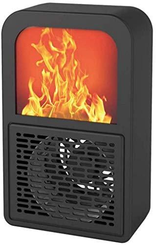 Fengli eléctrico fuego eléctrico estufa eléctrica retro 400 W calentador de fuego horno de fuego efecto llama chimenea quema simulado diseño de llama 3D