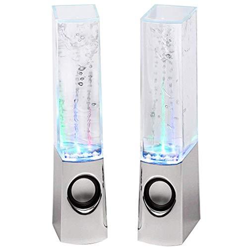 2 Piezas LED Light Dancing Water Music Fuente de luz Altavoces para...