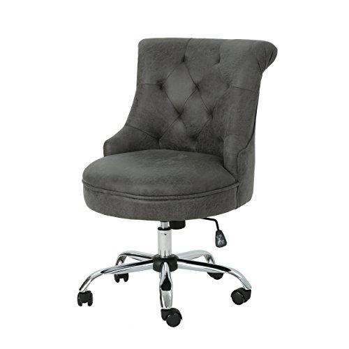 Christopher Knight Home Tyesha Desk Chair, Slate + Chrome