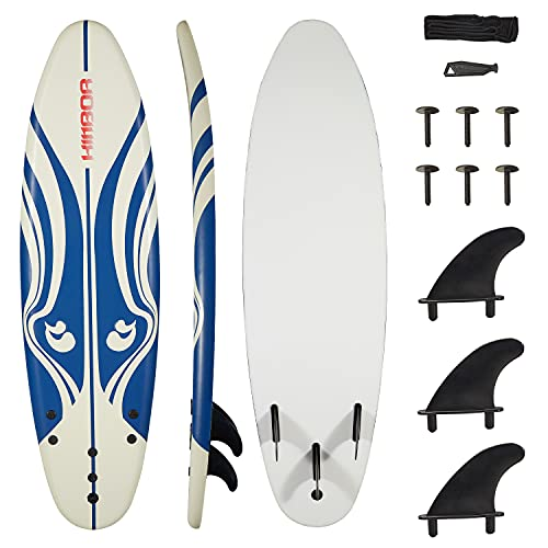 Kintness Surfboard with Eps Core Leash and Fins Bodyboard Longboard for Adults and Kids Outdoor...