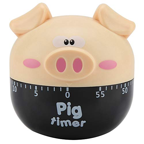 Fdit Cute Cartoon Pig Timers Countdown 60 Minutos Temporizadores mecánicos Cocina Temporizador...
