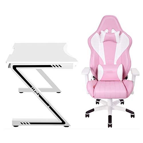 LORYLOLY Spielstuhl, Spielstuhl Roter Bürostuhl mit Armlehnen Lordosenstütze Schreibtischstuhl Ergonomischer Rückenlehnen-Spielstuhl
