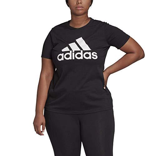 adidas womens Basic Badge of Sport Tee Black/White Large