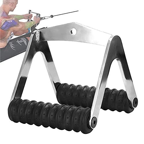 Guhih Empuñaduras Y Soportes De Cuerda De Jalón Lateral, Bicicletas Estáticas Empuñaduras De Entrenamiento De Fuerza Tirador De Cable De Fitness Agarre De Fila Empuñaduras