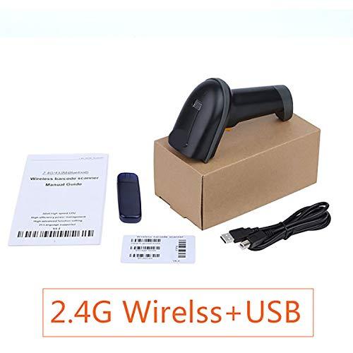 TQ Handheld Barcode Scanner, 2D QR Code sans Fil Bluetooth USB PDF417 LED Code Barre Lecteur Scanner Haute Vitesse avec Support,C
