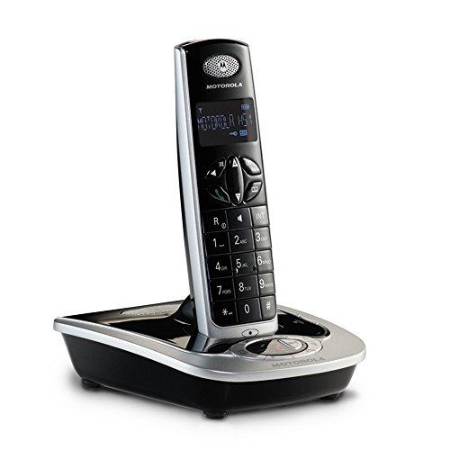 Motorola D511 Telefono Cordless Digitale con Segreteria Telefonica Digitale, Vivavoce, Nero