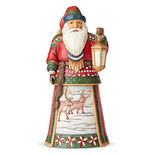 Jim Shore Heartwood Creek Babbo Natale con le Renne, Dodicesima Scena dell'Anno, Resina, Multicolore, 26 cm