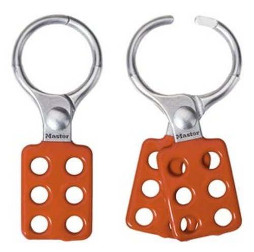 Master Lock Lockout Tagout Hasp, Vinyl Coated Aluminum Hasp, 1-1/2 in. Jaw Clearance, 417