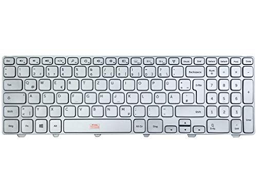 German keyboard – colour: silver, with illumination – for Dell Inspiron 15 (7537-3290)
