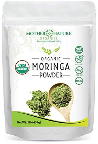 Organic Moringa Oleifera Leaf Powder - Perfect for Smoothies, Drinks, Tea & Recipes - 100% Raw from India - 16oz (1 Pound) - Vegan, Gluten-Free