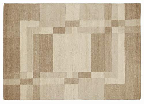 SOPRANO DOMAIN echter original handgeknüpfter Nepal Teppich in marmor, Größe: 200x300 cm