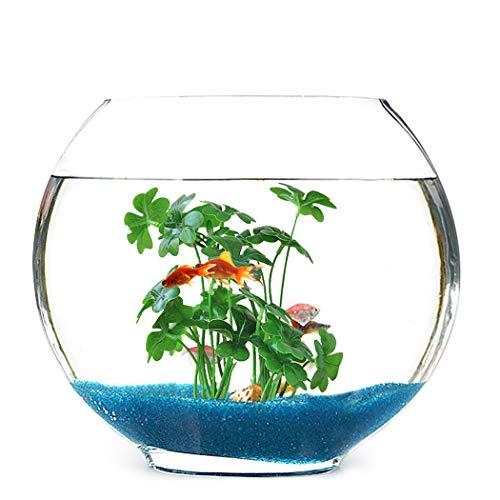 JUSTDOLIFE Kunstplanten Realistische 4 Blad Klaver Nep Plant Kunstblad Vis Tank Decoratie