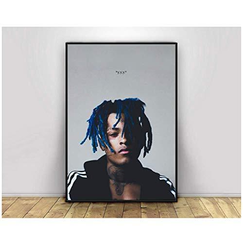 wzgsffs Hip Hop Rap Star Musik Poster und Druck Leinwand Malerei Wandkunst Wohnzimmer Wohnkultur Leinwanddruck-60x80 cm Kein Rahmen
