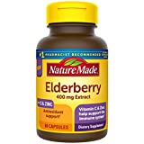 Nature Made Black Elderberry Capsules with Vitamin C and Zinc, Immune Support Help, Elderberry Pills for Adults, 60 Count