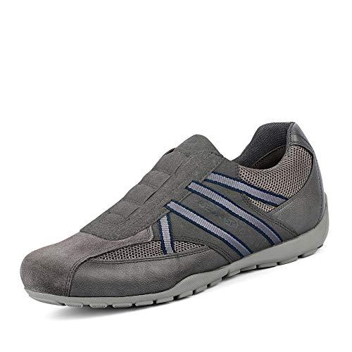 Geox Herren Ravex 4 Sneaker Turnschuh, Black Charc1, 42 EU