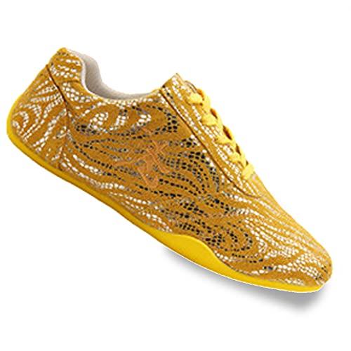 Zapatos de Tai Chi Adulto Artes Marciales, Unisex Zapatos de Kung Fu Taekwondo para Hombres y Mujeres, Ligera Otoño Zapatillas de Entrenamiento Deporte para Boxeo, Ka(Size:39EU/8US,Color:Amarillo)