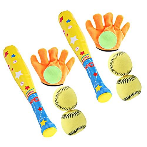 ABOOFAN ABOOFAN 2 Sets Kinder Sport Spielzeug Baseball Palying Tool Kit Sport Handschuh Soft Ball Baseball Schläger Spielzeug Set