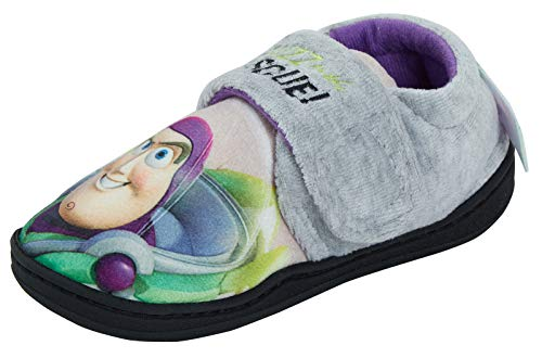 Disney Toy Story Buzz Lightyear Zapatillas de estar por casa, color Gris, talla 28 EU