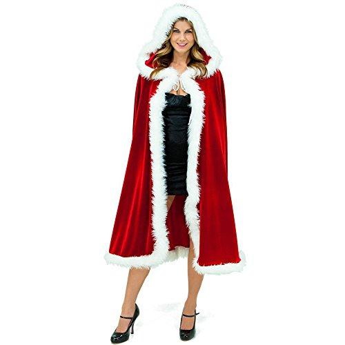 CHIC-CHIC Cadeau Anniversaire Adulte Noël Mère Déguisement Deluxe Capot Cape Adulte Femme Costume Capuchon
