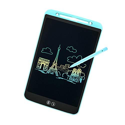 IDEASY Upgrade Tablette d'écriture LCD à Effacement Partiel et Complet 8,5 Pouces, Tablette d'écriture LCD pour Enfants pour l'école, la Maison et Le Bureau (Bleu)