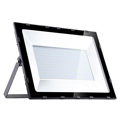 Yuanline Focos LED Exterior de Blanco Cálido 500W 50000LM, 2800-3200k, Ultrafino y Ultraligero para Jardín, Garaje, Patio, Estadio, Fábrica, Almacén, Cuadrado Resistente al Agua IP65