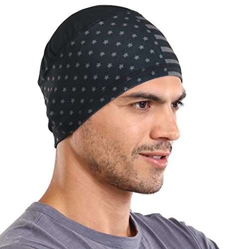 Sweat Wicking Helmet Liner/Cooling Skull Cap for Men with Neck Sun Protection - Helmet & Hard Hat Liner Accessory - UPF 50 Sun Protection