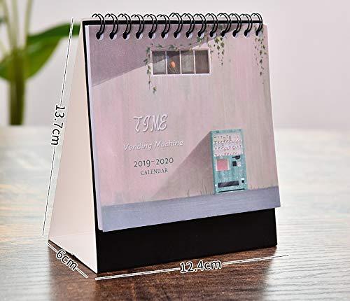 Kreativer Tischkalender 2020, Vertikale Tischplattendekoration Des Notizblockes, Niedlicher Kalender-kalenderplan Des Kleinen Kalenders 12.4*13.7cm Getränkeautomat