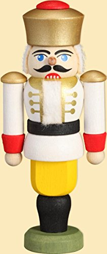Casse-noix roi Blanc H x l x p = 120 x 80 x 20 mm Neuf des monts Métallifères Casse-noix en forme de figurine de Noël miniature
