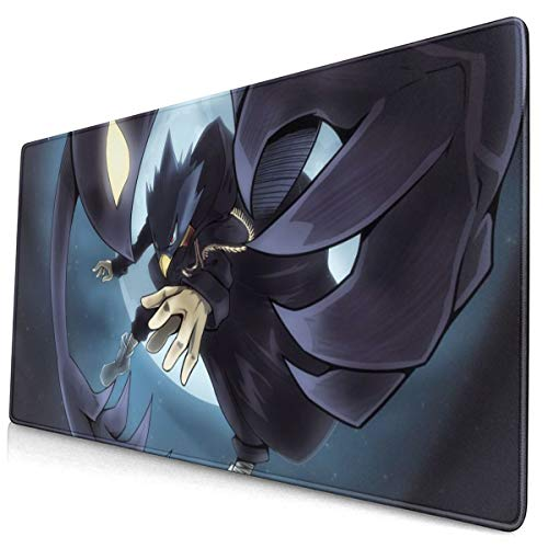 Best Laptop PC My Hero Academia Fumikage Tokoyami Mouse Pad with Stitched Edge Extra Big Anti-Fray Mouse Mat Best Gaming Mousepad for Office