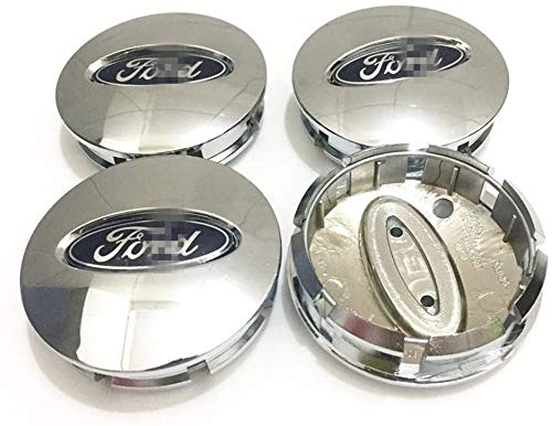 MixFactory 4pcs Auto Wheel Hub Center Caps Cubiertas 57 / 60mm para Ford Explorer Edge Reemplazo Insignia Emblema Cubiertas Decorativas Embellecedores de Ruedas