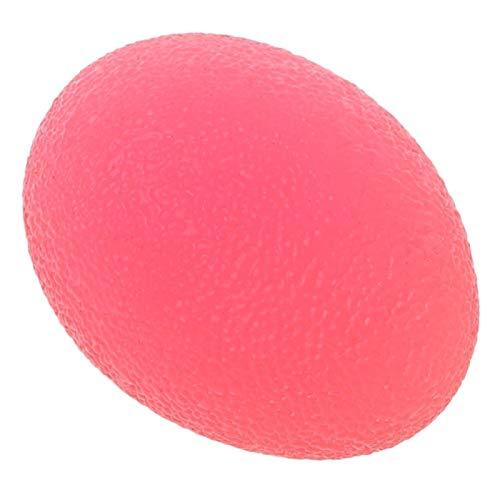 Auleset Bola de estrés de huevo suave Mano de la fuerza del dedo Ejercicio apretón de la bola de alivio del estrés