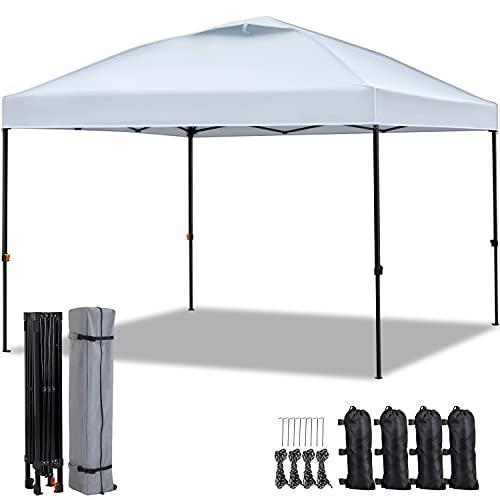 Yaheetech Pavillon 3x3m wasserdicht Partyzelt Faltpavillon Pop-up- Gartenzelt Gazebo Camping Sonnenschutz höhenverstellbar, Tragetasche mit 2 Rollen