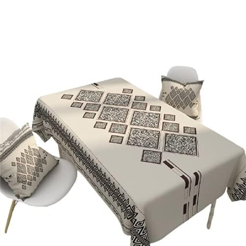 Mantel Rectangular para El Hogar, Cocina, Mantel Impermeable, Estampado Geométrico, Mantel Antifouling, Mantel Cuadrado para Mesa De Café, Decoración De La Sala De Estar 140x140cm