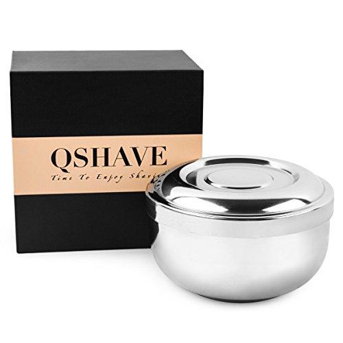 QSHAVE Cuenco para espuma de afeitar de...