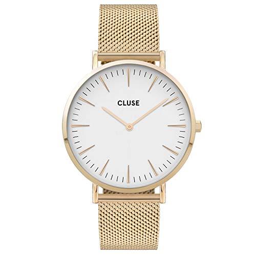 CLUSE dames analoog kwarts horloge met roestvrij stalen armband CW0101201009