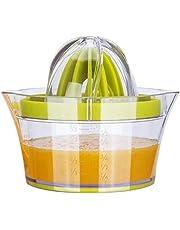 عصارة برتقال يدوية مثالية مستخرج عصير الليمون الطازج عصارة الليمون عصارة ريمر 4 في 1 متعددة الوظائف قياس كوب الثوم الشحوم بضغط اليد