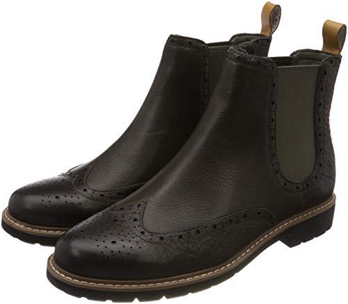 Clarks Herren Batcombe Top Chelsea Boots, Grau (Taupe Leather), 43 EU
