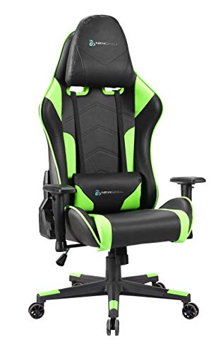 Newskill Kitsune - Silla gaming profesional (Inclinacion y altura regulable, reposabrazos 2D ajustables, base en nylon, reclinable 180º), Color Verde