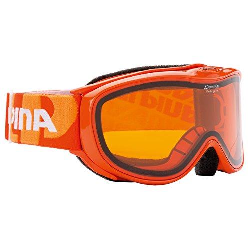 Alpina Challenge 2.0 Doubleflex Skibrille für Brillenträger orange