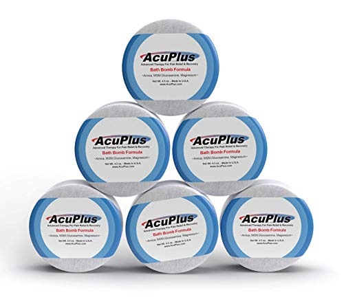 AcuPlus Pain Relief Bath Bomb - Advanced Therapeutic Pain Relief & Recovery from Muscle Aches and Body Pain (4.5 Ounce Bath Bomb 6 Pack)