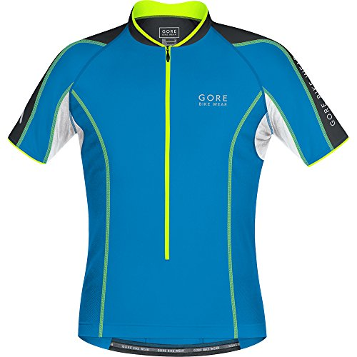 GORE WEAR Power Phantom 2.0 Maillot de Ciclismo, Hombre, Multicolor (Splash Blue/Black),...
